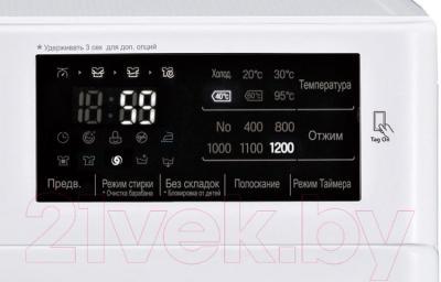 Стиральная машина LG F12U2HDN0 - дисплей