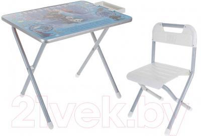 Стол+стул Дэми №1 Холодное сердце (серебро)