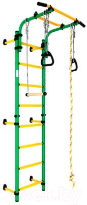 Детский спортивный комплекс Romana Комета Next 1 ДСКМ-2С-8.06.Г1.410.01-07 (зеленый/желтый)