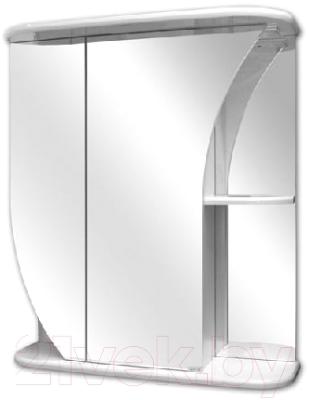 Шкаф с зеркалом для ванной Кветка Белла ШБ-650 (левый)