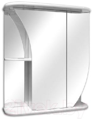 Шкаф с зеркалом для ванной Кветка Белла ШБ-650-01 (правый)