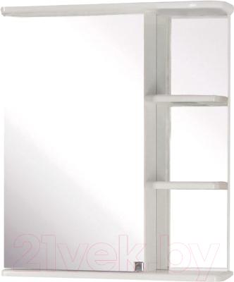 Шкаф с зеркалом для ванной Кветка Магнолия 600 (левый)