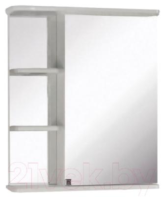 Шкаф с зеркалом для ванной Кветка Магнолия 600 (правый)