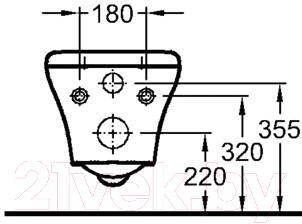 Унитаз подвесной Keramag MyDay 201400-000