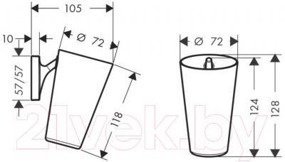 Стакан для зубных щеток Hansgrohe Starck Organic 42734000