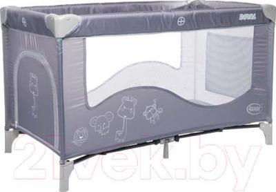 Кровать-манеж 4Baby Royal (серый)