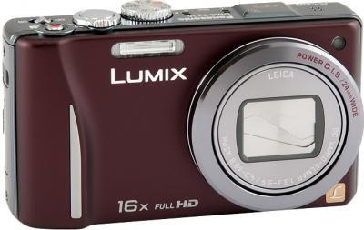 Компактный фотоаппарат Panasonic Lumix DMC-TZ20EE-T - общий вид