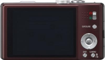 Компактный фотоаппарат Panasonic Lumix DMC-TZ20EE-T - вид сзади: дисплей