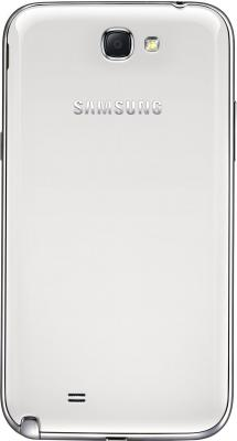 Смартфон Samsung N7100 Galaxy Note II (16Gb) White (GT-N7100 RWDSER) - вид сзади