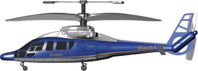 """Игрушка на пульте управления Silverlit Вертолет """"Eurocopter Dauphin"""" 84516 - общий вид"""