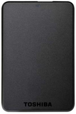 Внешний жесткий диск Toshiba Stor.E Basics 1TB Black (HDTB110EK3BA) - фронтальный вид