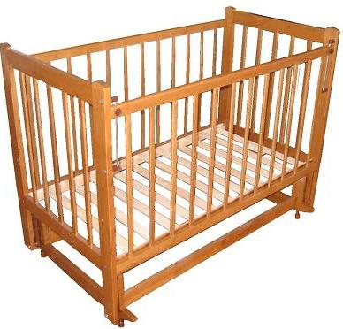 Детская кроватка Лескоммебель Лиза H8-6/2емя (Орех) - общий вид