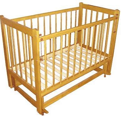 Детская кроватка Лескоммебель Лиза H8-6/2емя (Натуральный цвет) - общий вид
