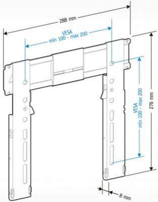 Кронштейн для телевизора Holder LEDS-7011 (черный глянец) - схематическое изображение