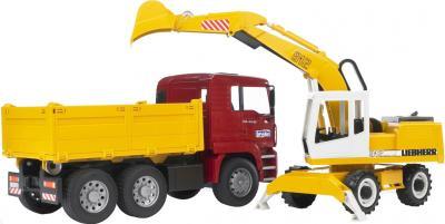 Функциональная игрушка Bruder Самосвал MAN с экскаватором 1:16 (02751) - общий вид