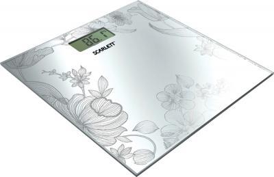 Напольные весы электронные Scarlett SC-215 (серебристый) - общий вид