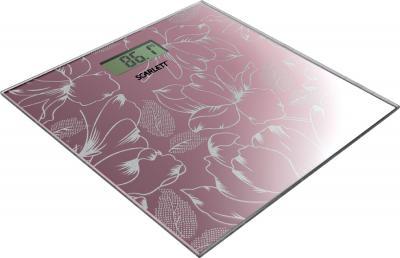 Напольные весы электронные Scarlett SC-215 Pink - общий вид