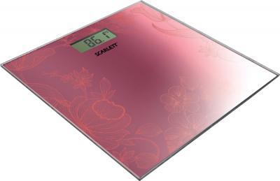 Напольные весы электронные Scarlett SC-215 Raspberry-Red - общий вид