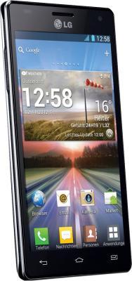 Смартфон LG P880 (Optimus 4X HD) Black - полубоком