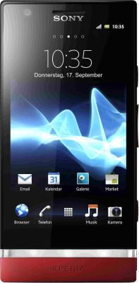 Смартфон Sony Xperia P (LT22i) Red - общий вид