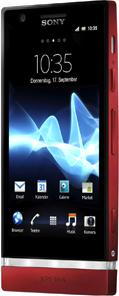 Смартфон Sony Xperia P (LT22i) Red - полубоком