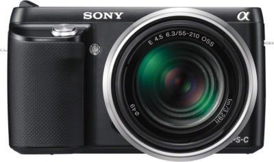 Беззеркальный фотоаппарат Sony Alpha NEX-F3Y Black - вид спереди