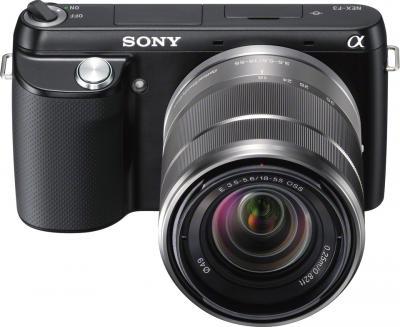 Беззеркальный фотоаппарат Sony Alpha NEX-F3Y Black - общий вид