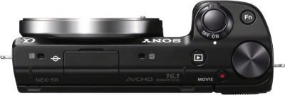 Беззеркальный фотоаппарат Sony Alpha NEX-5RK Black - вид сверху