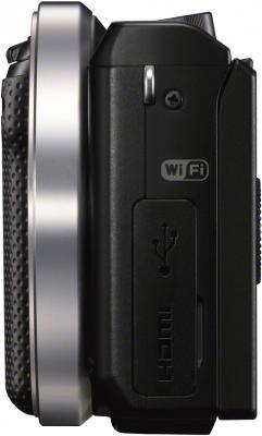 Беззеркальный фотоаппарат Sony Alpha NEX-5RK Black - вид сбоку
