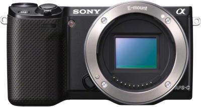 Беззеркальный фотоаппарат Sony Alpha NEX-5RK Black - вид спереди