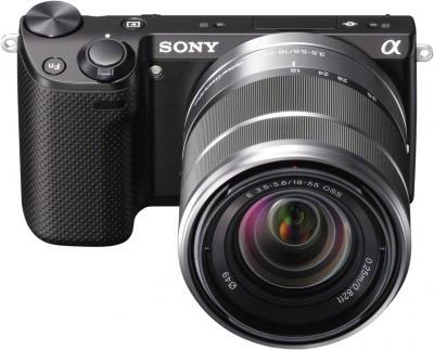 Беззеркальный фотоаппарат Sony Alpha NEX-5RK Black - общий вид