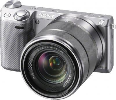 Беззеркальный фотоаппарат Sony Alpha NEX-5RK (серебристый) - общий вид
