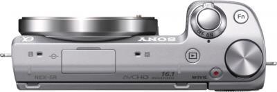 Беззеркальный фотоаппарат Sony Alpha NEX-5RK (серебристый) - вид сверху