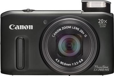 Компактный фотоаппарат Canon Powershot SX260 HS Black - общий вид