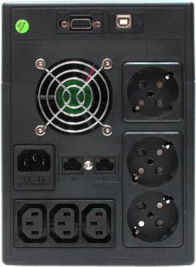 ИБП FSP EP1500 - задняя панель