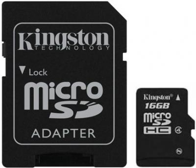 Карта памяти Kingston microSD 8GB Class 4 (SDС4/8GB) - общий вид
