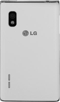 Смартфон LG E615 White (Optimus L5 Dual) - задняя панель