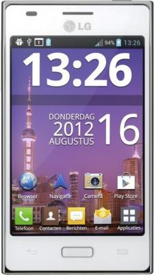 Смартфон LG E615 White (Optimus L5 Dual) - общий вид