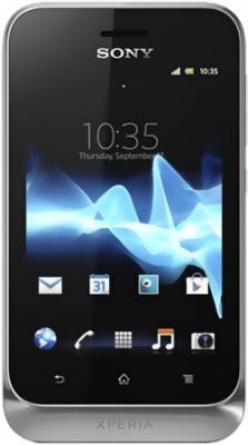 Смартфон Sony Xperia Tipo Dual / ST21i2 (серебристый) - общий вид