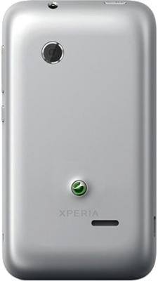 Смартфон Sony Xperia Tipo Dual / ST21i2 (серебристый) - задняя панель