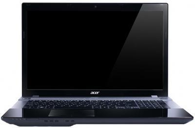 Ноутбук Acer Aspire V3-771G-53218G1TMaii (NX.M1XEU.001) - фронтальный вид