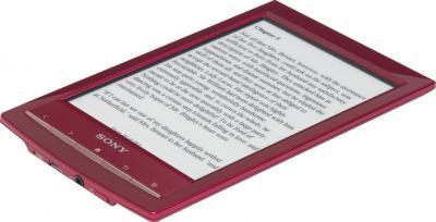 Электронная книга Sony PRS-T1RC Red + Оригинальный чехол - вид сбоку