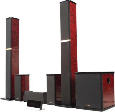 Мультимедиа акустика Microlab H 600 (дерево) - вид сбоку