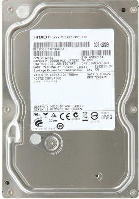 Жесткий диск Hitachi Deskstar 7K1000.C 500 Gb (HDS721050CLA362) - фронтальный вид