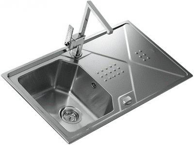 Мойка кухонная Teka Expression 45 B-CN (полированная) - вид сбоку