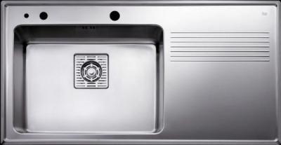 Мойка кухонная Teka Frame 1B 1D PLUS LHD (полированная) - общий вид