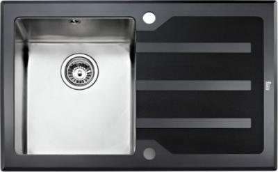 Мойка кухонная Teka Lux 1B 1D 86 Polished - вполоборота