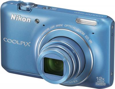 Компактный фотоаппарат Nikon Coolpix S6400 Blue - общий вид
