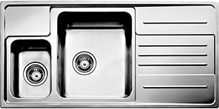 Мойка кухонная Teka Stage 60 B-CN (левая, микротекстура) - общий вид