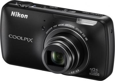 Компактный фотоаппарат Nikon Coolpix S800c Black - общий вид